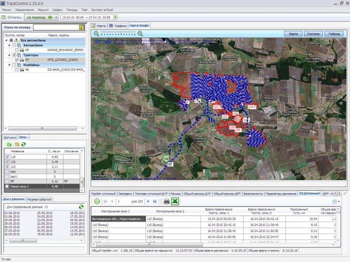 Программное обеспечение для мониторинга транспорта в агрохолдинге